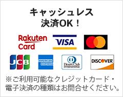 クレジットカード支払いOK!
