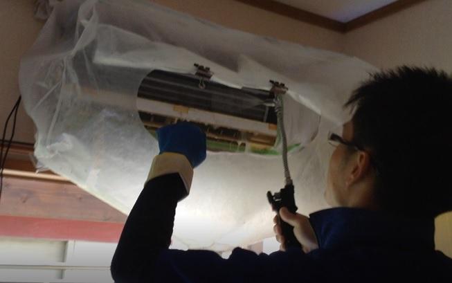 エアコン洗浄動画