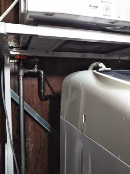 洗濯機の排水ホースのジョイント