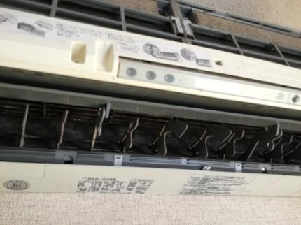 日立エアコン分解洗浄