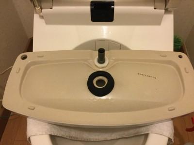 トイレタンク内黒カビ落とし