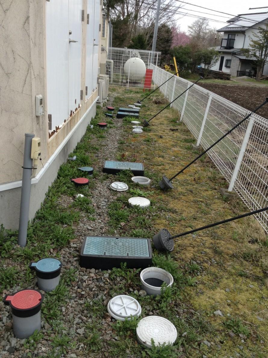 集合住宅の排水トラップ清掃