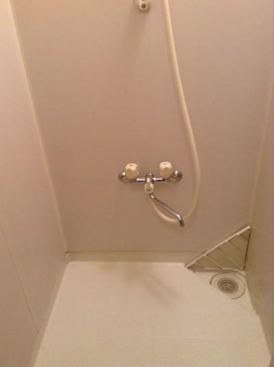 シャワールームのクリーニング