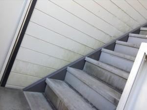 外部共用階段コケ落とし