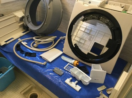 日立洗濯機ビッグドラム分解洗浄