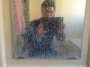 鏡の鱗状痕落とし