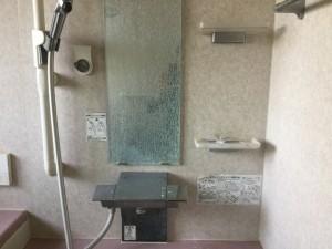 お風呂の鏡のウロコ除去