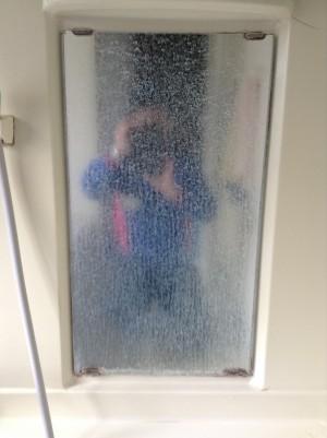 浴室 鏡のウロコ取り