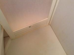 浴室ドアの汚れ落とし