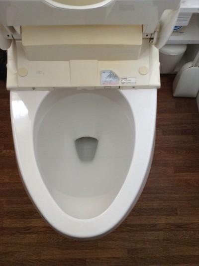 トイレの輪ジミ落とし