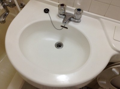 洗面台の黒ずみ除去