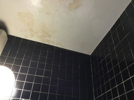 天井高のタイル張りお風呂のクリーニング