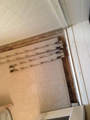 お風呂の溝クリーニング