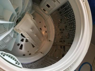 洗濯機ドラム水流上昇部の分解