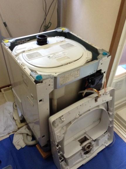 三菱洗濯機分解洗浄