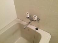 浴室の壁面色付け補修