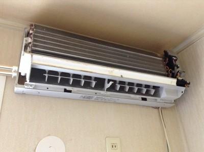 エアコン配線分解洗浄