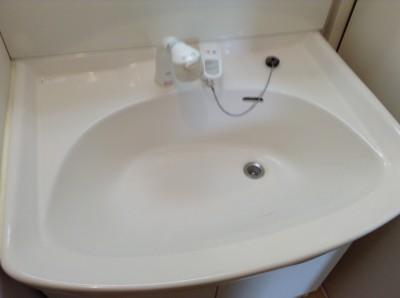 洗面台 カルキ汚れ除去