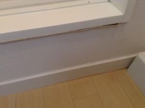 浴室入り口 壁紙剥がれ 補修