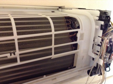 高所エアコンのクリーニング