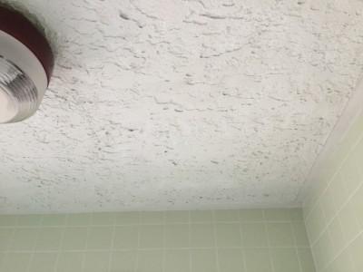 吹き付け天井の黒汚れ落とし