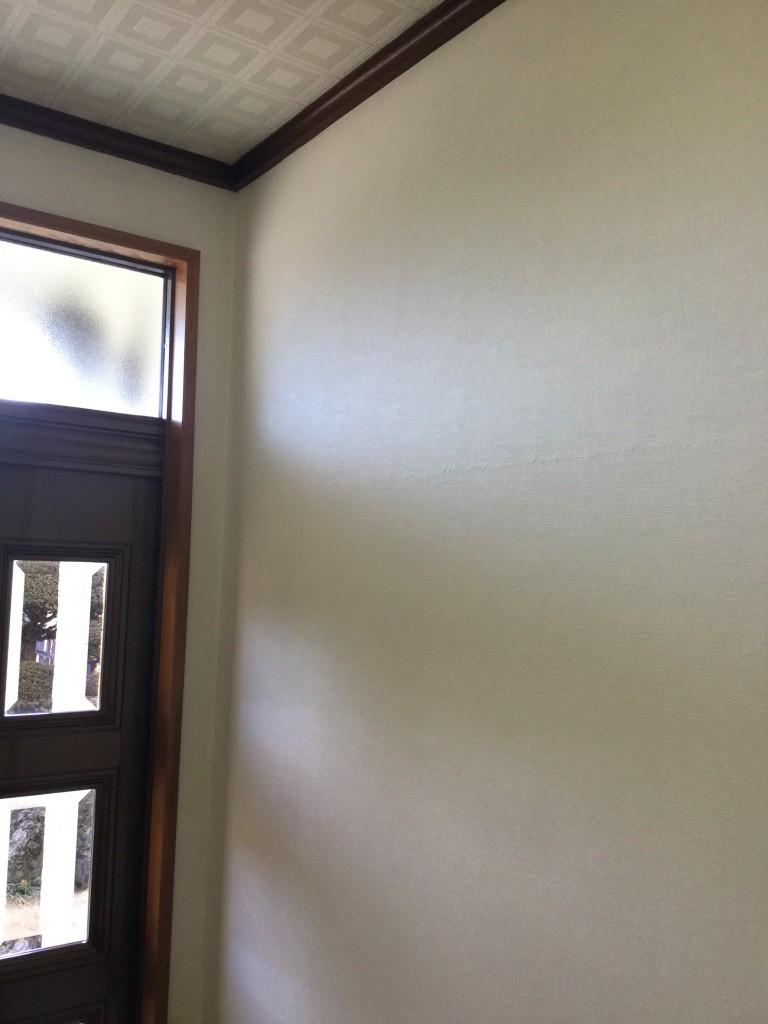 クロス壁紙の汚れを白くする方法 それが染色です 佐久市のハウス