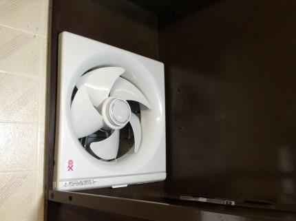 プロペラ換気扇の新品交換