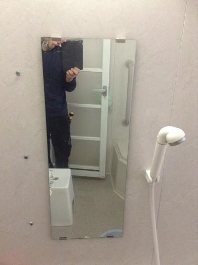 鏡のウロコ取り