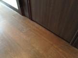 床の剥がれ調色