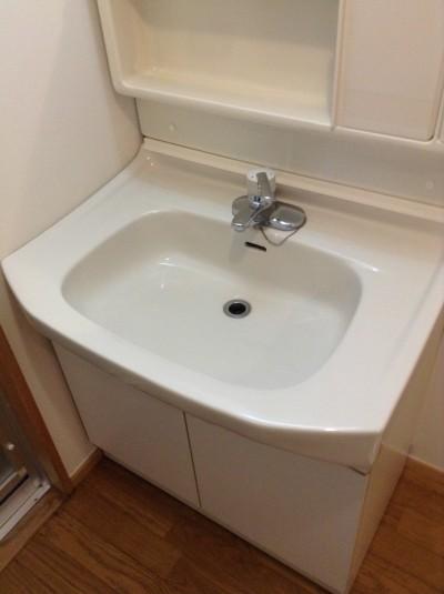 洗面台クリーニング 水アカ除去