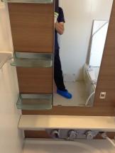 浴室クリーニング 水アカ除去 カルキ除去 鏡ウロコ取り