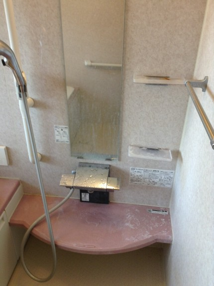 浴室の白い汚れ落とし