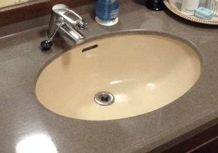 洗面台クリーニング 洗面ボウル磨き上げ