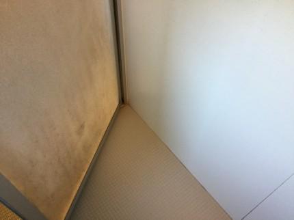 浴室のカビ汚れドアの裏側