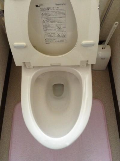 トイレの輪ジミ除去