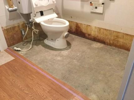 床トイレの張替え