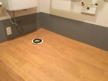 床シート張り直し施工