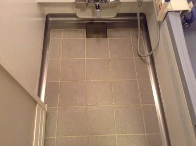 浴室水アカ汚れ 床、カルキ
