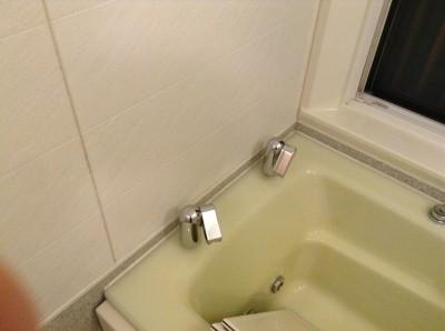浴室コーキングカビ除去 水アカ除去