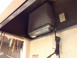 業務用換気扇の分解洗浄