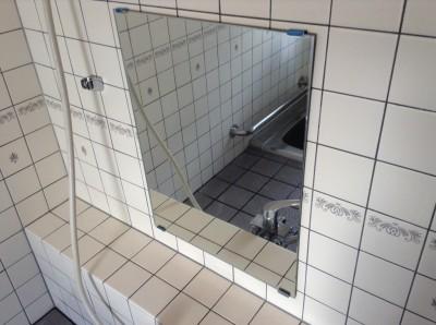 鏡の水アカ落とし
