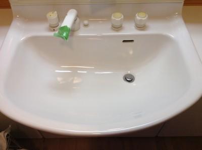 洗面台のコーティング