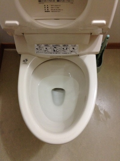 トイレの黒ズミ落とし