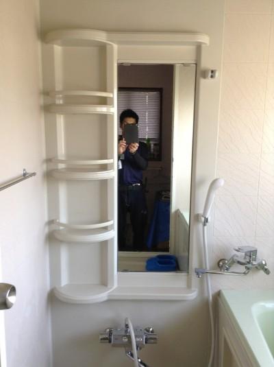 お風呂の鏡ウロコ落とし