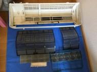古いエアコン木かげシリーズの分解洗浄