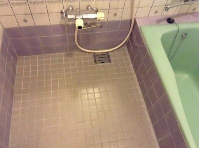 お風呂のタイル床のカルキ落とし