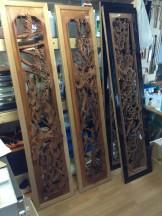 骨董品の欄間の修理