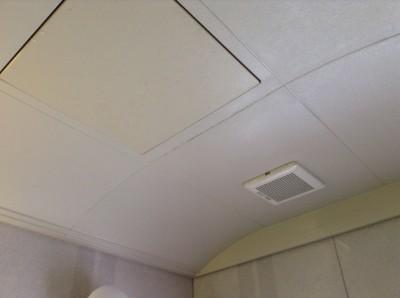 お風呂の天井カビ取り