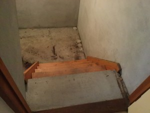 地下室のおそうじ