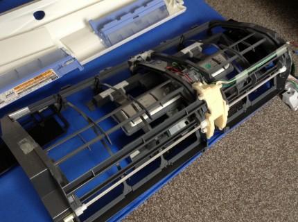 内部カビ汚れミツビシエアコンクリーニングMSZ-ZW711S-W